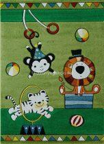 Cirkuszi állatok zöld gyerekszőnyeg 120x170