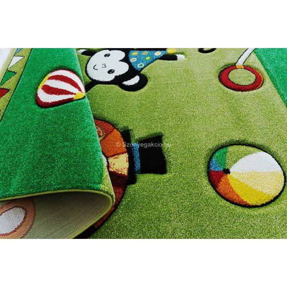 Smart Kids - Cirkuszi állatok zöld gyerekszőnyeg 160x230 (22316)