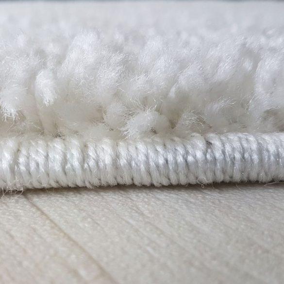 My shaggy 380 cream/krém színű kerek szőnyeg 200 cm átmérővel