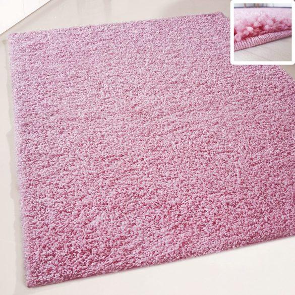 My shaggy 380 rózsaszín színű kerek szőnyeg 120 cm átmérővel