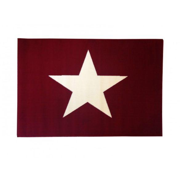 70.1567 Csillagos red szőnyeg  80x150 cm - A KÉSZLET EREJÉIG!
