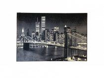 70.1727 New Yorkos black szőnyeg  80x150 cm - A KÉSZLET EREJÉIG!
