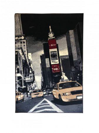 70.1761 New york black/red szőnyeg  80x150 cm - A KÉSZLET EREJÉIG!