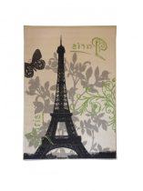 70.1910 Paris pillangó ivory/lime szőnyeg  80x150 cm - A KÉSZLET EREJÉIG!