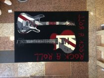 70.2134 Black/Red szőnyeg   80x150 cm - A KÉSZLET EREJÉIG!