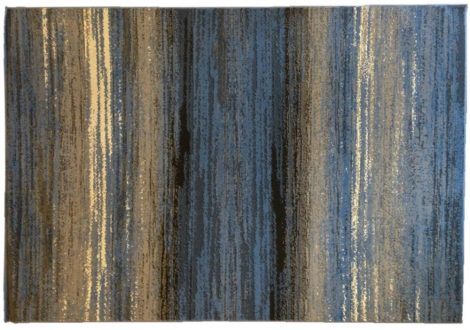 70.2881 Vonalas foltos jeans szőnyeg  80x150 cm - A KÉSZLET EREJÉIG!