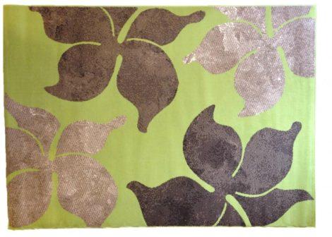 70.2914 Virágos lime szőnyeg  80x150 cm - A KÉSZLET EREJÉIG!