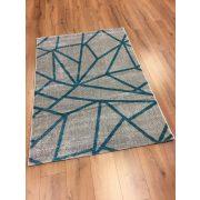 Barcelona E738 kék geometriai mintás szőnyeg  160x230 cm