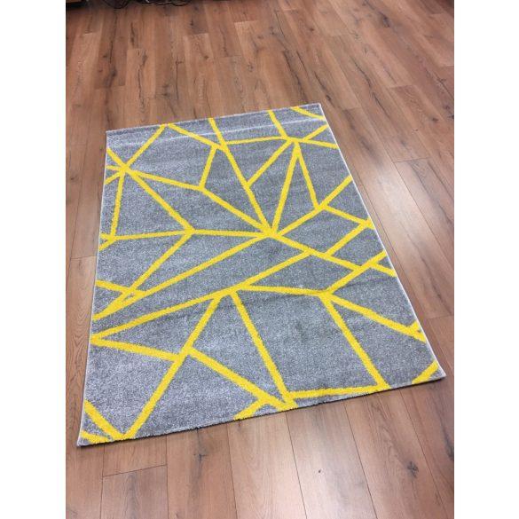 Barcelona E738 sárga geometriai mintás szőnyeg   80x150 cm