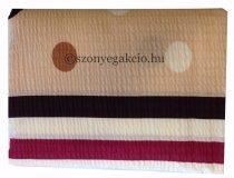 Ágynemű huzat 3 részes drapp-fekete-piros, KREPP