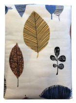 Ágynemű huzat 3 részes drapp-kék leveles, FLANEL