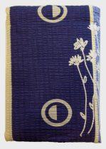 Ágynemű huzat 3 részes kék- sárga virágos, KREPP