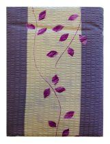 Ágynemű huzat 3 részes lila-rózsaszín leveles