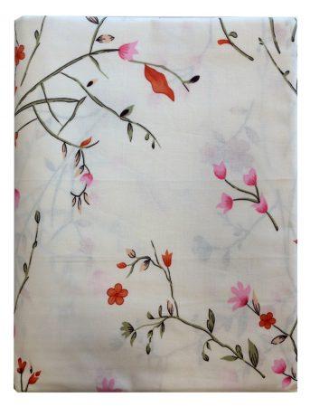 Ágynemű huzat 3 részes rózsaszín-piros virágos