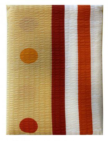 Ágynemű huzat 3 részes sárga-piros