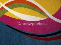 Színes kék modern vonalas szőnyeg 200x280