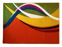 Színes narancs modern vonalas szőnyeg 200x280