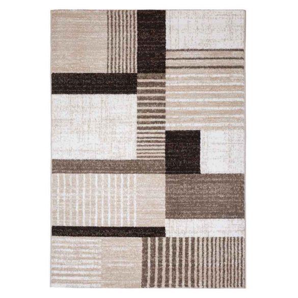 Madrid B001A_FMA66 bézs-barna modern mintás szőnyeg  60x110 cm