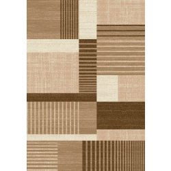 Madrid B001A_FMA76 barna-bézs modern mintás szőnyeg  80x150 cm