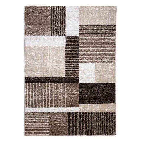 Madrid B001A_FMA76 barna-bézs modern mintás szőnyeg 200x290 cm