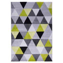 Barcelona B430A_FMF65 zöld-szürke geometriai mintás szőnyeg  80x150 cm