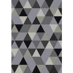 Barcelona B430A_FMF67 szürke geometriai mintás szőnyeg  80x150 cm