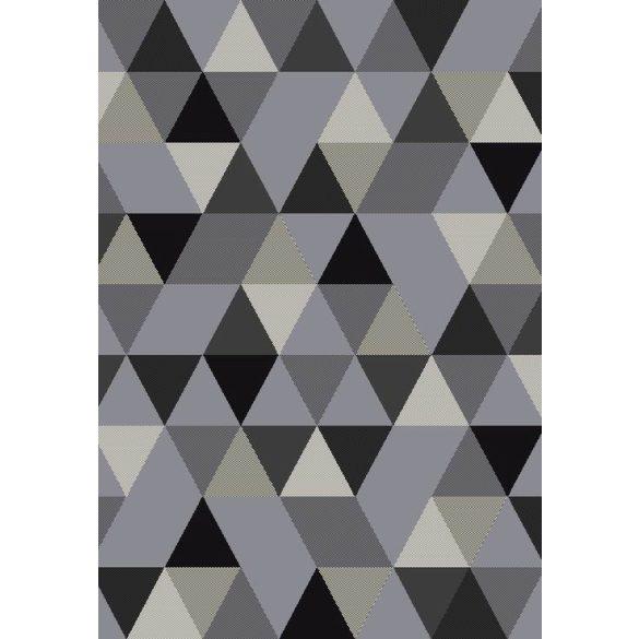 Barcelona B430A_FMF67 szürke geometriai mintás szőnyeg  60x110 cm