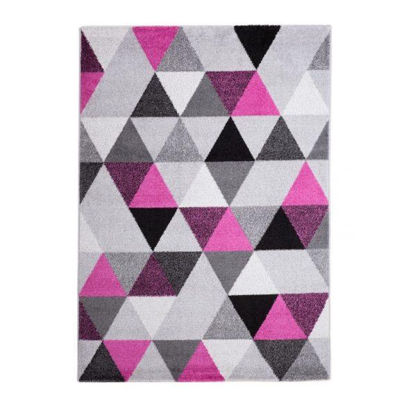 Barcelona B430A_FMF61 lila-szürke geometria mintás szőnyeg  60x110 cm