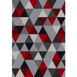 Barcelona B430A_FMF64 piros-szürke geometriai mintás szőnyeg 160x230 cm