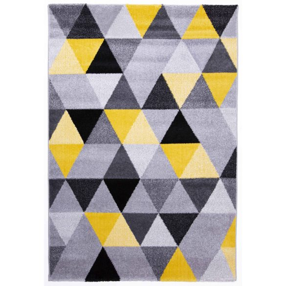 Barcelona B430A_FMF68  sárga-szürke geometriai mintás szőnyeg  80x150 cm