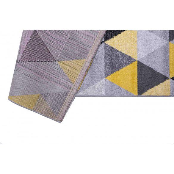 Barcelona B430A_FMF68  sárga-szürke geometriai mintás szőnyeg 200x290 cm