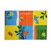 SH Bambino 2103 vidám madármintás sárga gyerekszőnyeg 160x230 cm