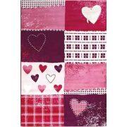 SH Bambino 2105 rózsaszín-lila szivecskés mintás gyerekszőnyeg 120x170 cm