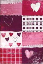 SH Bambino 2105 rózsaszín-lila szivecskés mintás gyerekszőnyeg   80x150 cm