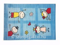 Bambino 2107 türkizkék színű gyerekszőnyeg 120x170 cm