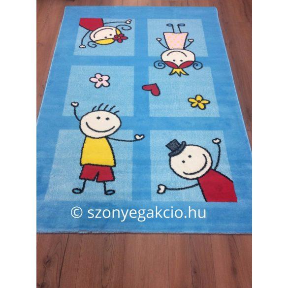 SH Bambino 2107 türkizkék színű gyerekszőnyeg 160x230 cm