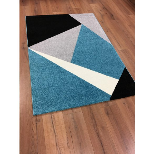 Barcelona 198 kék geometriai mintás szőnyeg  80x150 cm