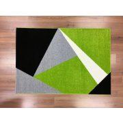 Barcelona 198 zöld geometriai mintás szőnyeg 120x170 cm