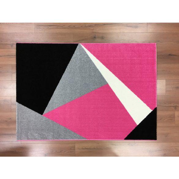 Barcelona 198 pink geometriai mintás szőnyeg 120x170 cm
