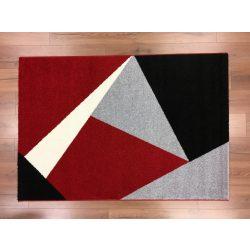 Barcelona 198 piros-fekete geometriai mintás szőnyeg  80x150 cm