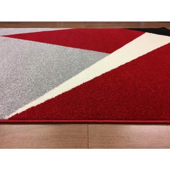 Barcelona 198 piros-fekete geometriai mintás szőnyeg 160x230 cm
