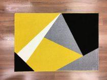 Barcelona 198 sárga geometriai mintás szőnyeg 160x230 cm