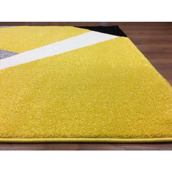 Barcelona 198 sárga geometriai mintás szőnyeg 200x280 cm