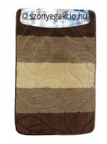 Fürdőszobaszőnyeg leveles barna 2 db-os 50x80