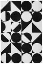 Black&White 392 fekete-fehér szőnyeg 160x230 cm