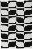 Black&White 393 fekete-fehér szőnyeg 160x230 cm