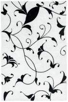 Black&White 390 fehér szőnyeg  80x150 cm