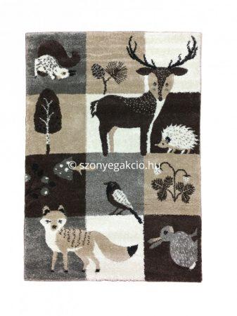 Broadway Kids Forest - Erdő állatai gyerekszőnyeg  80x120 cm - A KÉSZLET EREJÉIG