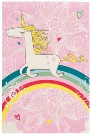 Broadway kids unicorn - egyszarvú mintás gyerekszőnyeg 120x170 cm - A KÉSZLET EREJÉIG!