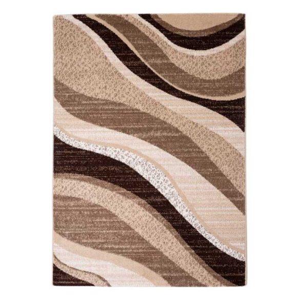 Madrid C191B_FMA67 karamell modern hullám mintás szőnyeg  60x110 cm